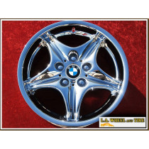 """BMW M Roadster / Coupe Style 40 (M40) OEM 17"""" Set of 4 Chrome Wheels"""