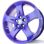 Custom Purple Powder Coat