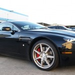 Aston Martin with L.A. Wheel Chrome wheels