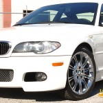 BMW with L.A. Wheel and Tire chrome rims