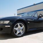 BMW Z3 with L.A. Wheel Chrome rims