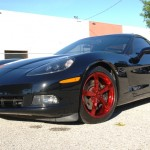 Chevy Corvette with Custom Blood Chrome wheels