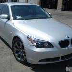 BMW with L.A. Wheel Black Chrome wheels