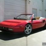 Ferrari with L.A. Wheel Chrome wheels