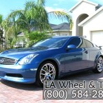 Infiniti with L.A. Wheel Chrome wheels