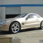 Mercedes-Benz with L.A. Wheel chrome wheels