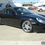 Porsche with L.A. Wheel Chrome wheels