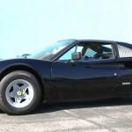 Ferrari with White Powder Coat wheels