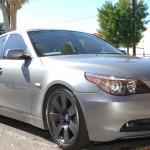 BMW with Custom Gun Metal Gray Powder Coat