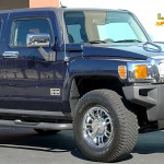 Hummer H2 with L.A. Wheel Chrome wheels