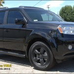Honda Pilot with Black Powder Coat
