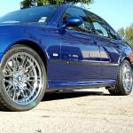 BMW M5 with L.A. Wheel Chrome wheels