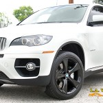 BMW X6 with Black Powder Coated wheels