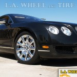 Bentley Continental w/ L.A. Wheel Chrome wheels