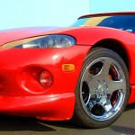 Dodge Viper with L.A. Wheel chrome rims