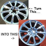 L.A. Wheel and Tire Repairs, Refinishes and Re-chromes Wheels