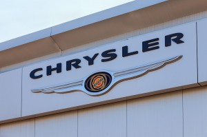 Samara, Russia - May 24, 2014: Chrysler Automobile Dealership Si