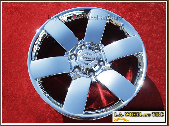 "Nissan Titan Accessories >> L.A. Wheel - Chrome OEM Wheel Experts | Nissan Armada OEM 20"" Set of 4 Chrome Wheels 62494"