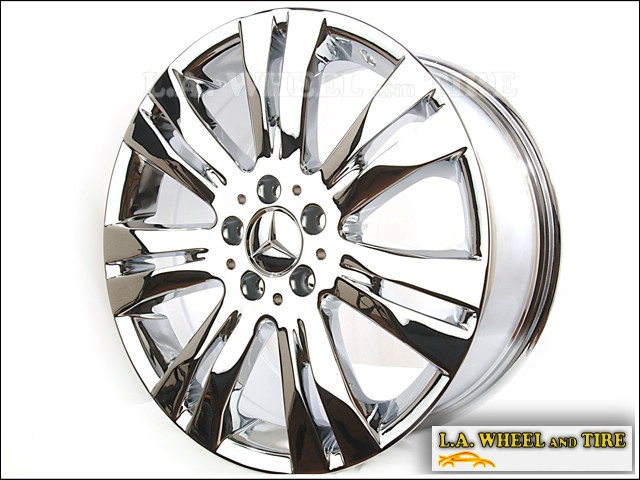 L a wheel chrome oem wheel experts mercedes benz for Mercedes benz wheel and tire protection