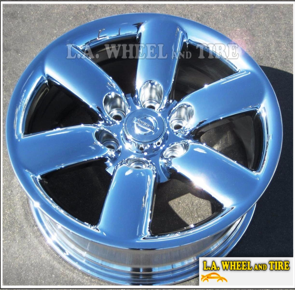 "EXCHANGE Set of 4 New Chrome 18"" Wheels for NISSAN TITAN ARMADA 62493"