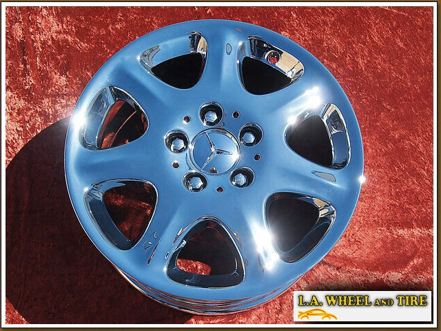 "Mercedes-Benz S-class OEM 16"" Set of 4 Chrome Wheels"