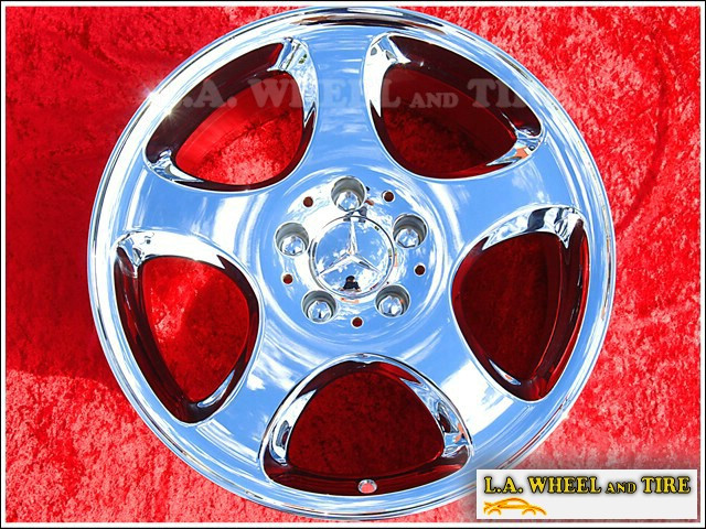 "Mercedes-Benz SL-class OEM 17"" Set of 4 Chrome Wheels 65201"
