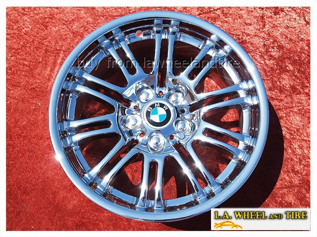 "BMW M3 Style 67 (M67) OEM 18"" Set of 4 Chrome Wheels"