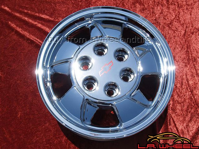 "Chevrolet Astro / Suburban / Tahoe OEM 16"" Set of 4 Chrome Wheels 5096"