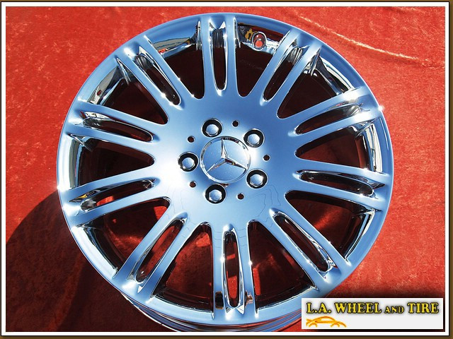 L a wheel chrome oem wheel experts mercedes benz e for Mercedes benz factory wheels