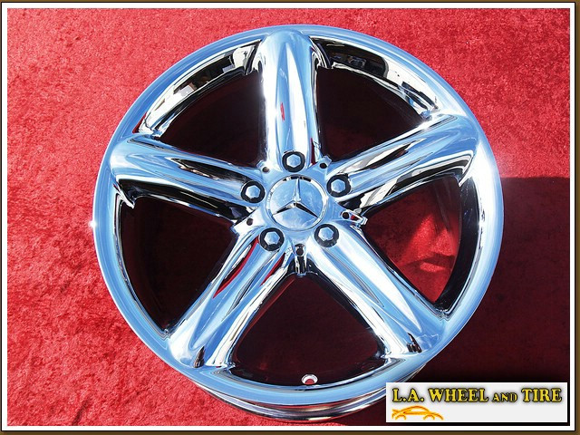 L a wheel chrome oem wheel experts mercedes benz for Mercedes benz factory wheels