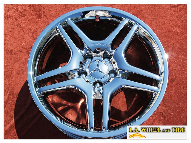 L a wheel chrome oem wheel experts mercedes benz e55 for Mercedes benz factory wheels