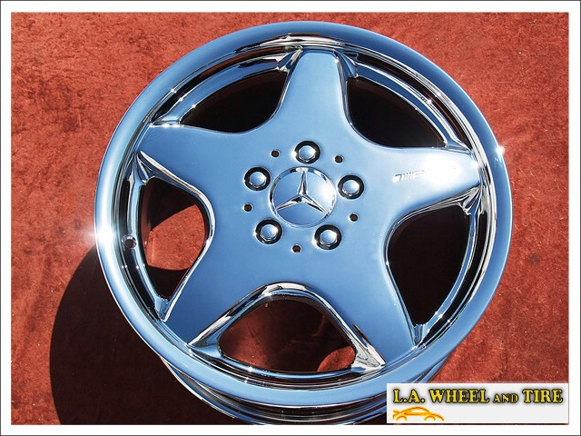 "Mercedes-Benz CLK / SLK-class AMG Sport OEM 17"" Set of 4 Chrome Wheels"