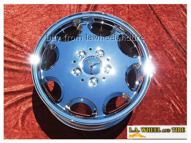"Mercedes-Benz C-class OEM 15"" Set of 4 Chrome Wheels"