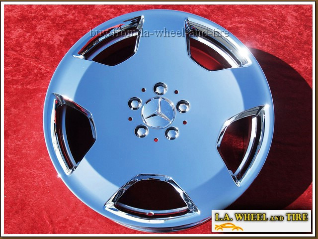 """Mercedes-Benz S550 / S600 Forged OEM 18"""" Set of 4 Chrome Wheels"""