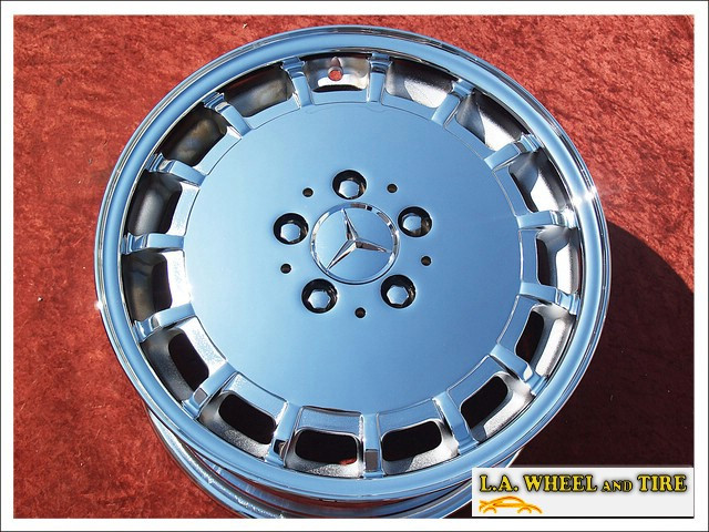 L a wheel chrome oem wheel experts mercedes benz sl for Mercedes benz factory wheels