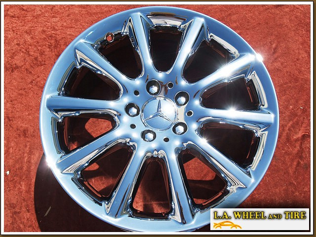 L a wheel chrome oem wheel experts mercedes benz for Mercedes benz factory rims