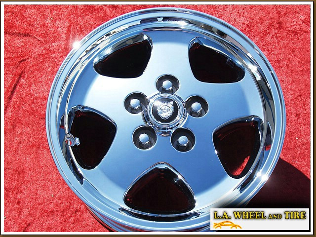 "Jaguar XJS OEM 16"" Set of 4 Chrome Wheels 59681"