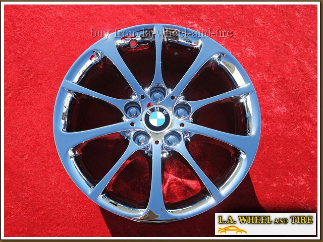 "BMW Z4 Style 200 OEM 17"" Set of 4 Chrome Wheels"