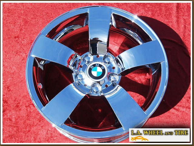 "BMW 525i Sport Style 122 OEM 17"" Set of 4 Chrome Wheels"