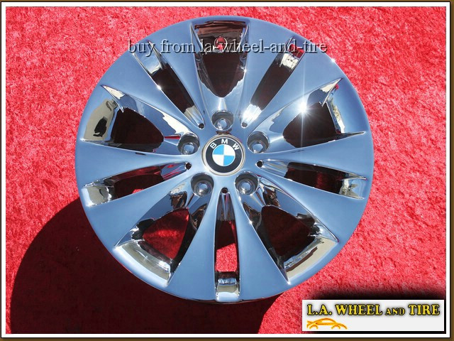 "BMW 5-series Style 116 OEM 17"" Set of 4 Chrome Wheels"