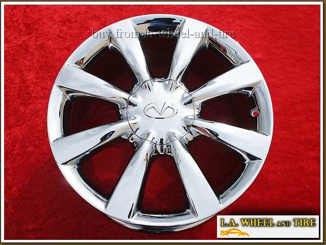 "Infiniti EX35 / EX37 / QX50 OEM 18"" Set of 4 Chrome Wheels"