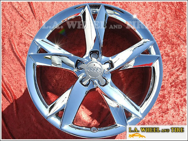 "Audi S5 / A5 S-Line OEM 19"" Set of 4 Chrome Wheels"