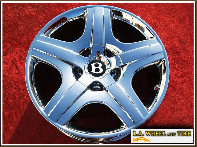 "Bentley Continental GT / Flying Spur OEM Forged 19"" Set of 4 Chrome Wheels"