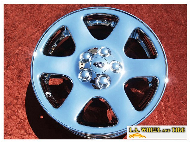 """Land Rover Discovery Comet OEM 18"""" Set of 4 Chrome Wheels"""