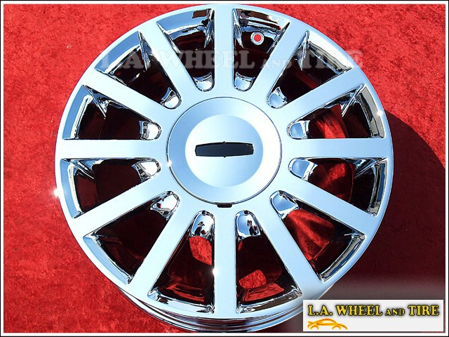 "Lincoln Town Car OEM 17"" Set of 4 Chrome Wheels"