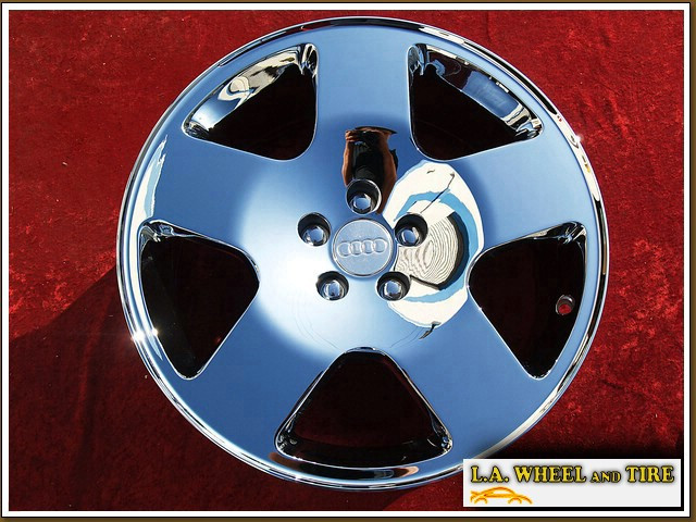 "Audi TT OEM Forged 17"" Set of 4 Chrome Wheels"