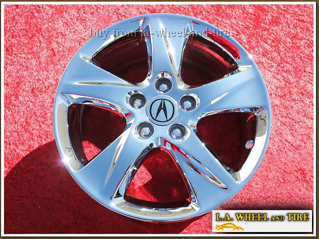 "Acura TSX OEM 17"" Set of 4 Chrome Wheels"