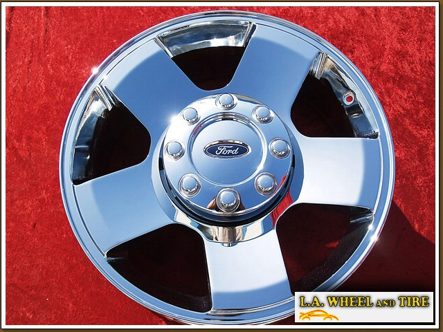 "Ford F-250 / F-350 Super Duty Forged OEM 20"" Set of 4 Chrome Wheels 3644"