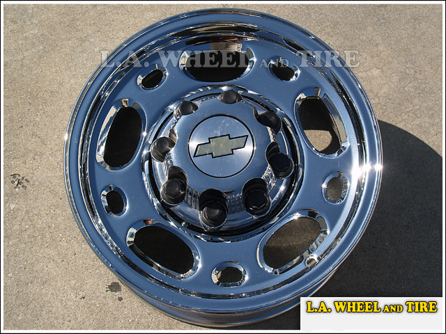 "Chevrolet / GMC 1500HD / 2500 / 3500 Forged OEM 16"" Set of 4 Chrome Wheels"