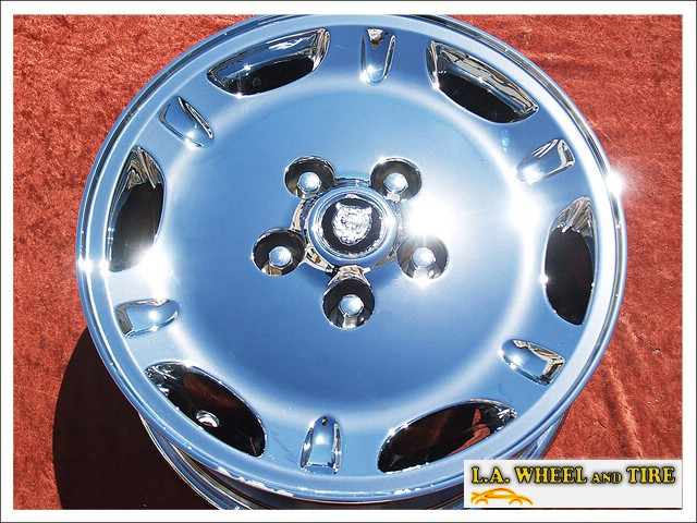 "Jaguar XJ6 / XJ8 Dimple OEM 16"" Set of 4 Chrome Wheels"